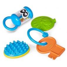 Детский Набор Развивающих Звуковых Игрушек-погремушек Копилка подарков Baby Sences Chicco из пластика Чико