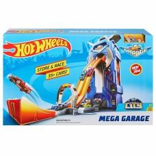 Игровой Трек Хот Вилс Мегагараж на 35 машинок, лифт, ручка для переноски, двойной трек - Hot Wheels Mega Garage