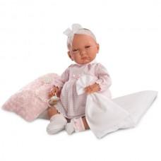 Детская Игровая Испанская Подвижная Говорящая Кукла для девочек Лала с соской и пледом 4 см Llorens из винила