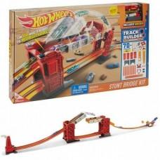 Детский Игровой Набор Хот Вилс Трек Разводной мост красный Track Builder Bridge Stunt Kit Hot Wheels Mattel 58154-14 tst-810431286