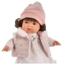 Детская Игровая Испанская Подвижная Говорящая Кукла для девочек Люция с соской 38 см Llorens из винила