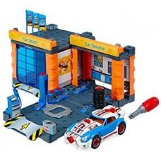 Игровой набор Станция техобслуживания с автомойкой, разборный автомобиль и отвертка Hot Wheels Service station