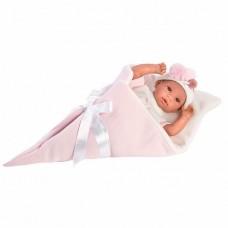 Детская Игровая Развивающая Испанская Кукла Llorens плачущая малышка в розовом одеяле 36 см из винила