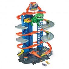 Игровой набор Легендарный гараж с Робо-Ти-рексом Хот Вилс на 100 мест с 2 машинками - Hot Wheels Ultimate Garage