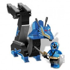 Детский Игровой Конструктор для мальчиков Синий Зорд-Дракон 115 деталей Mega Bloks Power Rangers Samurai
