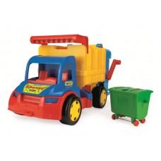 Игрушка Детская Развивающая Для Мальчиков Машинка Мусоровоз Гигант до 50 кг для дома и улицы Wader 65x39x35 см