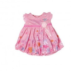 Детская Игровая Одежда для куклы Бэби Борн Розовое платье с зайчиками и поясом Baby born Zapf Creation