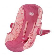 Автокресло для детской игровой куклы Бэби Аннабель розовое с ремнями безопасности Baby Annabell Zapf Creation