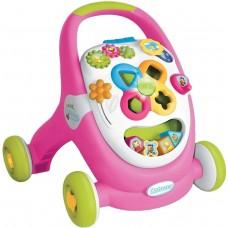 Детские Интерактивные Развивающие Ходунки-Каталка со светом и музыкой, цвет: розовый, Walk and Play, Smoby