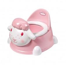 Детский Музыкальный Горшок со спиной для Игровой Куклы Бэби Аннабель Овечка розовая Baby Annabell ZapfCreation