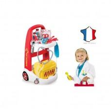 Детский Развивающий Многофункциональный Игровой Набор Тележка на колесах со стетоскопом Доктора Smoby Смоби
