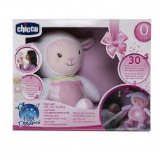 Детский Игровой Музыкальный Ночник Овечка Sweetheart мягкая Плюшевая игрушка Проектор розовый Chicco Чико
