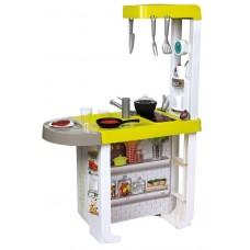 Детская Игровая Интерактивная Кухня оранжевая с плитой и вытяжкой со звуком 25 аксессуаров Cherry Smoby Смоби