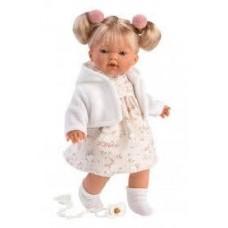 Игровая Испанская Кукла Llorens Роберта из винила в платье с цветочными принтом и розовых шароварах, 33см
