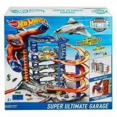 Игровой Набор Хот Вилс Гараж-Гигант с автомойкой, самолетом и 4 машинками - Hot Wheels Super Ultimate Garage
