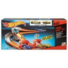 Детский Игровой Набор Хот Вилс Трек с двумя автомобилями Turbo Race Set 3 Speed Launcher Hot Wheels Mattel 59165-14 tst-627703027
