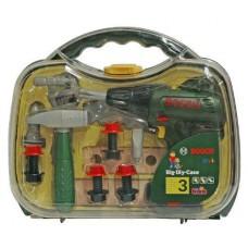 Игровой Набор инструментов Bosch для мальчиков: дрель с 3 насадками, 2 брусками и крепежными элементами Klein