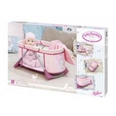 Детская Игровая Кроватка переносная манеж для куклы с подушкой розовая Беби Бон Baby Born Zapf Creation
