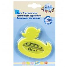 Детский фигурный Термометр для воды в виде уточки с нарисованными значками Canpol babies Уточка Желтый