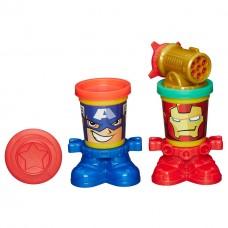 Детский Игровой Набор Для Мальчиков Герои Марвел Железный Человек и Капитан Америка Плей До Avengers Play Doh 59225-14 tst-705408517