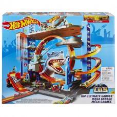 Детский Игровой Набор Хот Вилс Трек-Гараж Горячие Колеса Мега Гараж с Акулой на 90 мест Hot Wheels Mattel 59255-14 tst-763167414