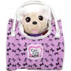 Игрушечная собачка в сумочке для девочек Чи Чи Лав Вояж Путешественница в сиреневой сумке - Chi Chi Love Simba
