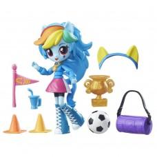 Детский Игровой Набор для Девочек с подвижной мини-куклой Рейнбоу Дэш из серии Equestria Girls My Little Pony