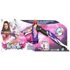 Детское Игрушечное Оружие Лук Разбитое сердце для девочек сиреневый с 5 стрелами Heartbreaker Bow NERF Нерф