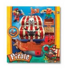 Игровой набор для мальчиков Пиратский корабль с фигурками и сокровищами, звукoм и свeтовыми эффeктами, Keenway