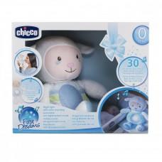 Детский Игровой Музыкальный Ночник Овечка Sweetheart мягкая Плюшевая игрушка Проектор голубой Chicco Чико