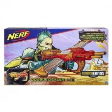 Детское Игрушечное Оружие Бластер с 2 Рукоятками и 2 Обоймами по 12 стрел Думлэндс Double Dealer Nerf Hasbro