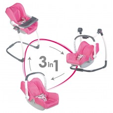 Детская Игровая Многофункциональная Переноска-сидение для кукол до 42 см розовая Maxi-Cosi 3 в 1 Smoby Смоби 59025-14 tst-595013245