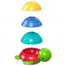 Детская Развивающая тактильная Игрушка для ванны Пирамидка Черепашка с цветными панцирями, Fisher price