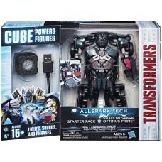 Стартовый Игровой набор Робот-Трансформер Оптимус Прайм Allspark Tech с кубом, свет и звуковые эффекты, Hasbro