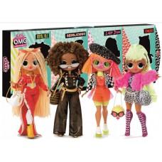 Игровой набор из 4 Кукол ЛОЛ Леди Неон, Леди Дива, Королева Пчелка, Леди Диджей - 80 сюрпризов - LOL Surprise! OMG
