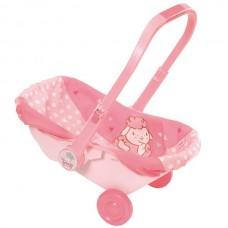 Сиденье-переноска Для Детской Игровой Куклы Бэби Аннабель розовая с колесами Zapf Creation Baby Annabell