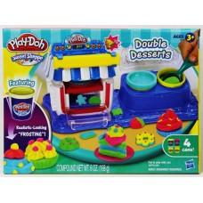 Детский Игровой Набор Для Девочек Двойные десерты 4 банки пластилина и шприц Плей До Play Doh Hasbro Хасбро 59226-14 tst-705418908