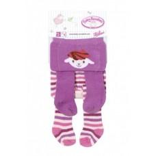 Пара Детских Игровых Колготок для куклы Бэби Аннабель 43 см Baby Annabell Zapf Creation - фиолетовые в полоску