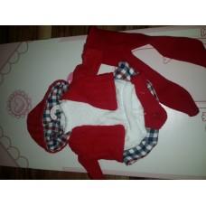 Одежда для детских игровых Испанских кукол Ллоренс 35 cм Красный костюм на вешалке из мягких тканей Llorens