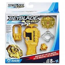 Игровой волчок Золотой Дракон с клипсой, золотым запускателем, Бейблейд - BEYBLADE MASTER KIT Xcalius, Hasbro
