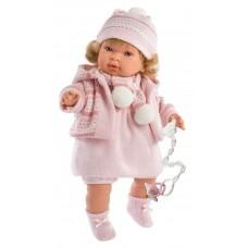 Детская Игровая Испанская Подвижная Говорящая Кукла Ллоренс Анна 42 см с соской в платье Llorens из винила