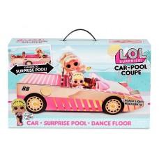 Игровой набор Розовый Кабриолет-бассейн ЛОЛ с куколкой и аксессуарами, звук, свет - LOL Surprise! Car-Pool Coupe