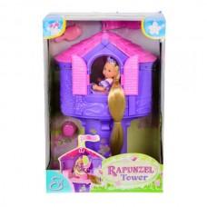 Детский Игровой Кукольный Домик Еви Рапунцель в Башне с длинноволосой куклой Steffi Love Evi Simba Симба