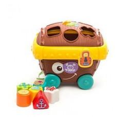 Детская Развивающая Игрушка-Сортер цвет, форма, сундук-головоломка, 6 игрушек, Сокровища пиратов Chicco Чико
