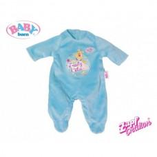 Детский Игровой Комбинезон велюровый для куклы-пупса голубой с Винни пухом Baby Born 43 см Zapf Creation