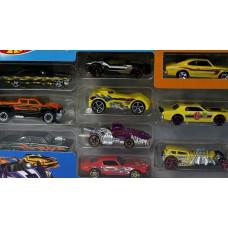 Детский Игровой Набор для мальчиков из 10 металлических Машинок Хот Вилс масштаб 1:64 - Hot wheels 10 pack