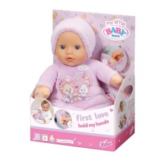 Детская Игровая Музыкальная Мягконабивная Кукла Беби Бон 30 см My Little Baby Born First Love Zapf Creation