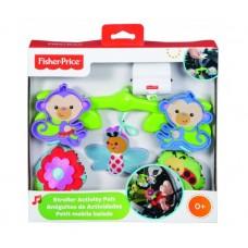 Детская Игровая Подвеска-Карусель для коляски, мобиль Обезьянка зеленая с музыкальными эффектами Fisher Price