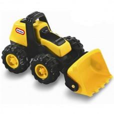 Детская Игровая Развивающая Мини-Машинка для мальчиков Бульдозер желтый с ковшом для дома и улицы Little Tikes