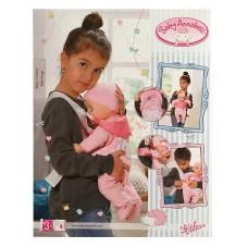 Переноска Рюкзак Для Детской Игровой Куклы Бэби Аннабель розовая с овечкой Zapf Creation Baby Annabell